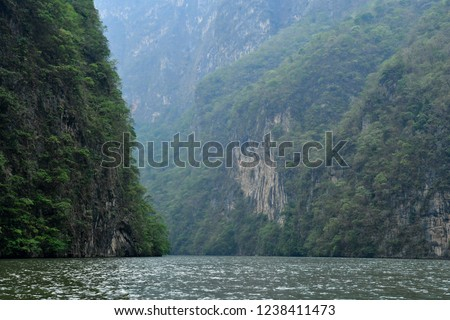 Tuxtla Gutierrez;  United Mexican States - may 14 2018 : the El Sumidero canyon #1238411473