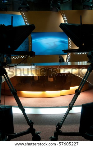 TV broadcast studio for producting news and talkshow