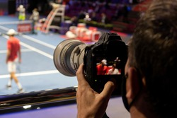 TV camera for broadcast tennis