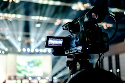 tv camera in a concert hall.