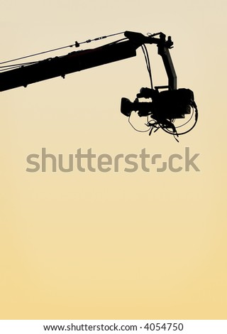 TV camera on a crane