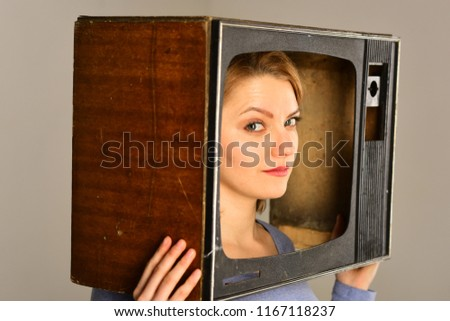 tv channel. news reporter on tv channel. tv channel concept. choose any tv channel. nothing interesting to watch