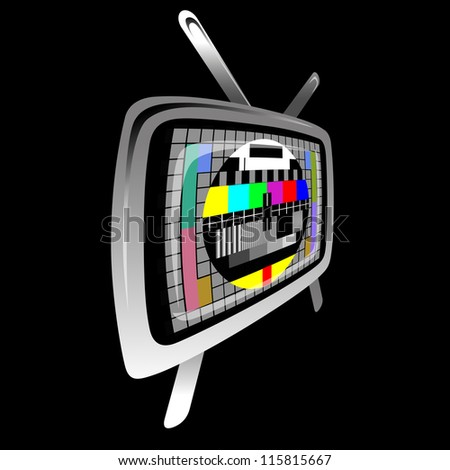 tv - color test pattern - test card,