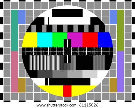tv color test pattern - test card