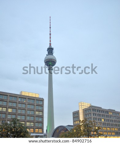 TV Fersehturm (Television tower) in Berlin, Germany