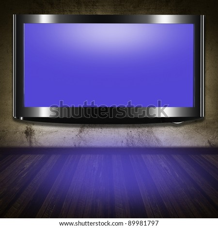 TV flat screen lcd in the room