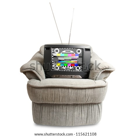 TV in chair