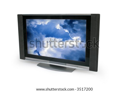 TV isolated on white - stock photo