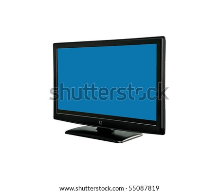 tv monitor on white background.