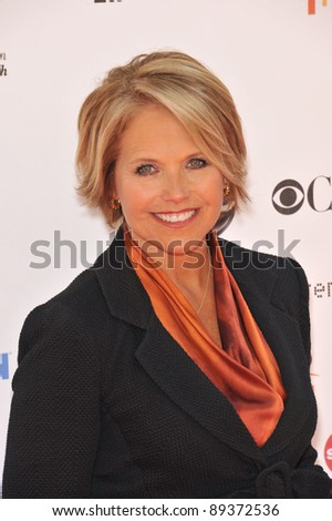 TV news anchor Katie Couric at the Stand Up To Cancer event at Sony Pictures Studios, Culver City. September 10, 2010  Culver City, CA Picture: Paul Smith / Featureflash