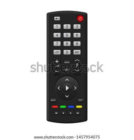 TV remote control. 3d illustration isolated on white background. Raster version