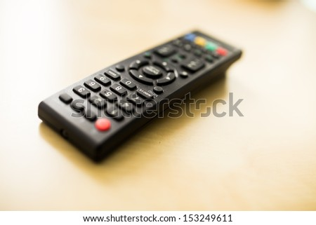 tv remote control on the table