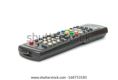 TV remote isolated on white background