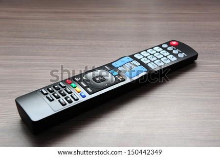 TV remote on the desk