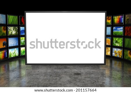 Tv screen with images