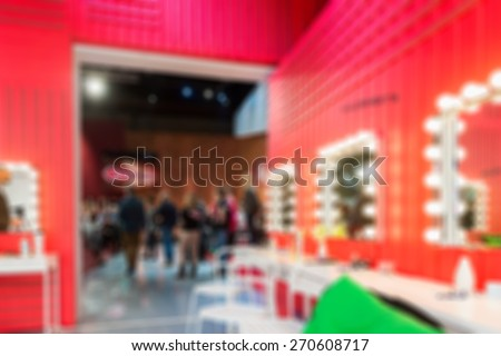 TV show filming backstage abstract blur background shot with shallow depth of field