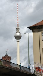 TV tower in Berlin seen from distance