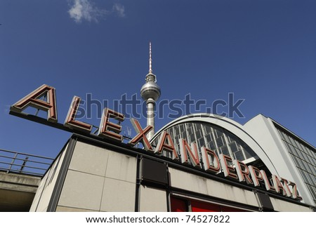 TV Tower on Alexanderplatz Berlin Germany.