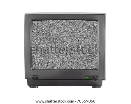 TV with blank screen isolated on white background