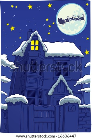 Twas  Night  Christmas on Twas The Night Before Christmas Stock Photo 16606447   Shutterstock