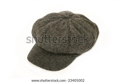Tweed cap isolated on white background