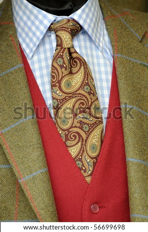 Tweed jacket an tie