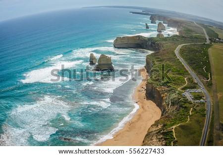 Twelve Apostles & the Great Ocean Road, Australia #556227433