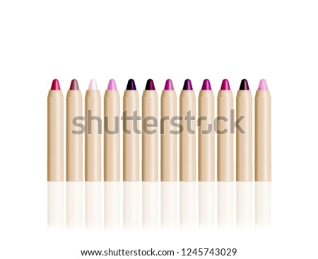 twelve different color of lipstick  #1245743029