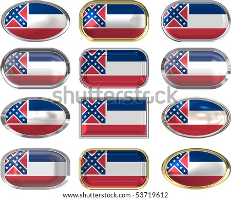 twelve Great buttons of the Flag of Mississippi