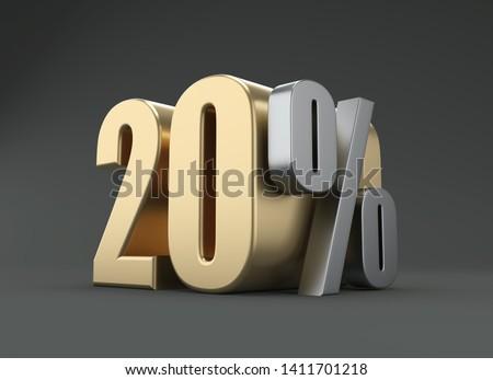 Twenty Percent - 3D Rendered Image