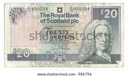 twenty scots pounds