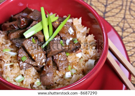 twice cooked beef stir fry rice