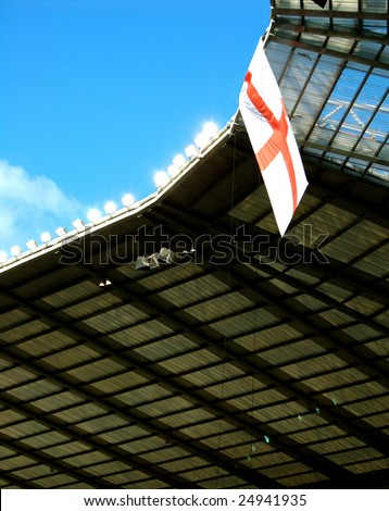 london england flag. St Georges Flag flying at