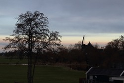 Twilight above Nauerna in the Zaan region