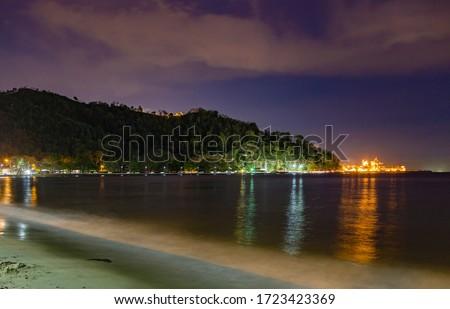 Twilight along the coast in Trinidad Stock photo ©