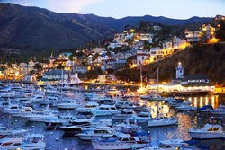 Twilight at Avalon Harbor, Catalina Island