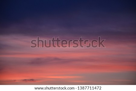 Twilight. Beautiful twilight sky. Can be used as a background. #1387711472