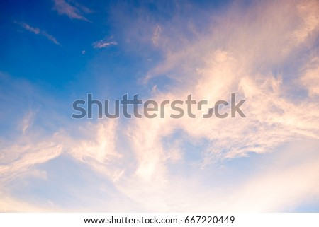 twilight cloud sky for background and backdrop #667220449
