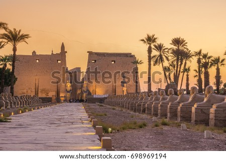 Twilight from Luxor temple