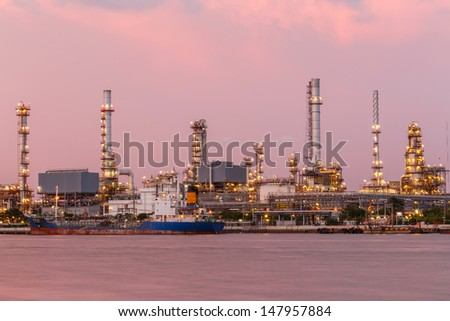 twilight  oil refinery and petroleum