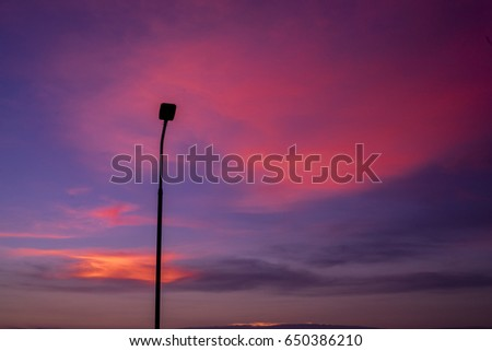 twilight sky and electricity post #650386210