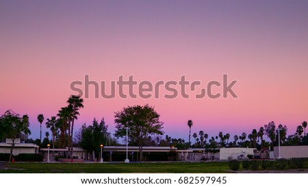 Twilight sky at Palm Springs.