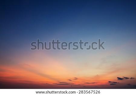 Twilight sky background