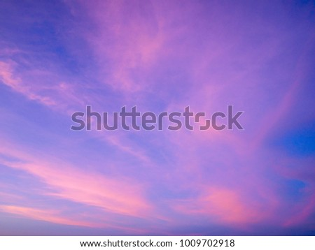 Twilight sky background with Colorful sky in twilight background #1009702918