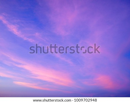 Twilight sky background with Colorful sky in twilight background #1009702948