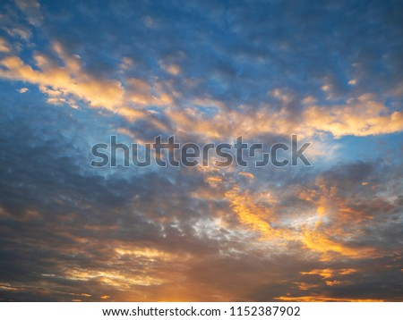 Twilight sky background with Colorful sky in twilight background #1152387902