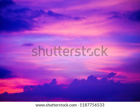 Twilight sky background with Colorful sky in twilight background #1187756533