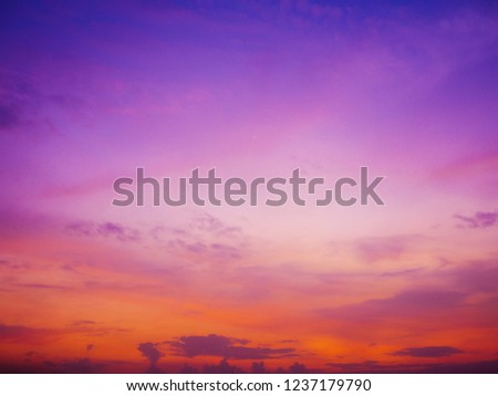 Twilight sky background with Colorful sky in twilight background #1237179790