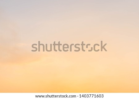 Twilight sky background with Colorful sky in twilight background. #1403771603