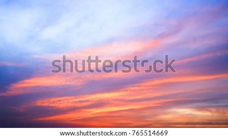 Twilight sky background with Colorful sky in twilight background #765514669